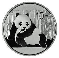 2015 China 1 Troy Oz .999 Fine Silver Panda 10 Yuan Coin In Mint Cap SKU33443