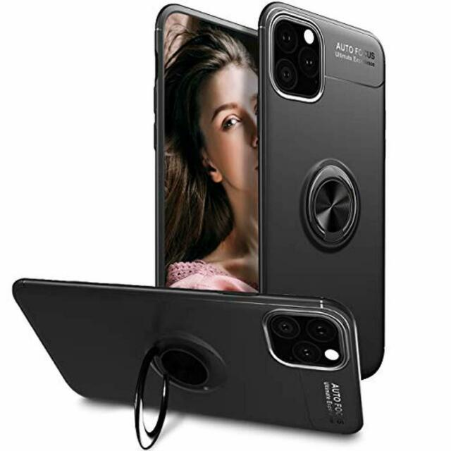 iPhone 11 Pro Max Case,WATACHE Slim Fit Heavy Duty Soft TPU Case with Metal Fing