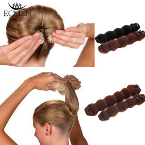 NEW-Sponge-Hair-Styling-Donut-Bun-Maker-Magic-Former-Ring-Shaper-Styler-Tool-2Pc