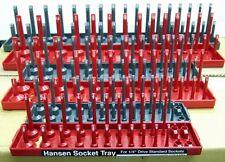 Hansen Socket Organizer Holder Storage Trays - 1/4, 3/8, 1/2 - SAE / Metric