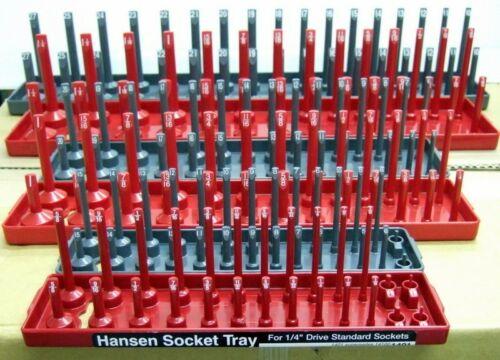 3//8 1//2 Hansen Socket Organisateur Support Stockage Plateaux 1//4 SAE//métrique