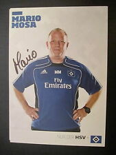 9086 mario Mosa HSV hamburgo sv original firmada autógrafo mapa