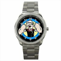 NEW* HOT POPEYE THE SAILOR Quality Sport Metal Wrist Watch Gift
