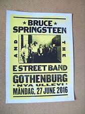 Bruce Springsteen River Tour 2016 official Gothenburg concert poster. 101/200