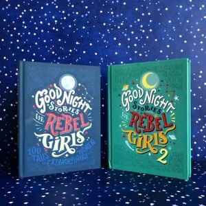 Good-Night-Stories-For-Rebel-Girls-Part-1-and-2-New-Hardcover-Books