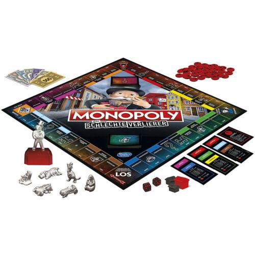 Hasbro Monopoly für schlechte Verlierer Brettspiel Gesellschaftsspiel