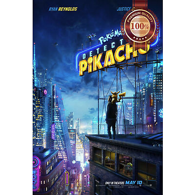 NEW POKEMON DETECTIVE PIKACHU OFFICIAL CINEMA MOVIE FILM PRINT PREMIUM POSTER