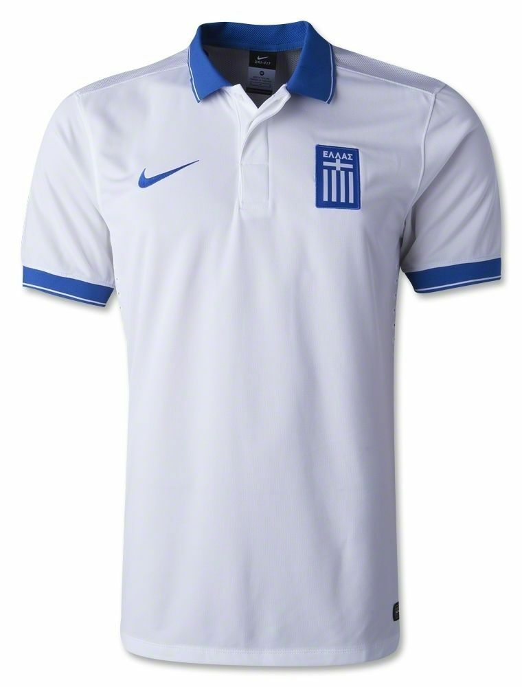 NEW NIKE Men Authentic Greece Home Football Soccer Jersey MRSP 90 World Cup 582bc762b