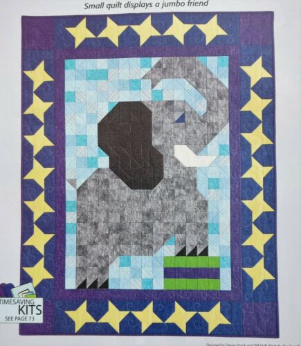 Peanut Patch Elephant Children/'s Quilt SEWING QUILTING PATTERN