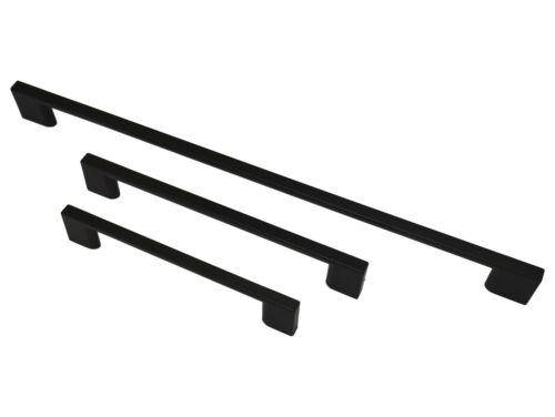 Noir Slimline Meuble Cuisine Poignée Porte Placard Meuble Tiroir Chambre à coucher