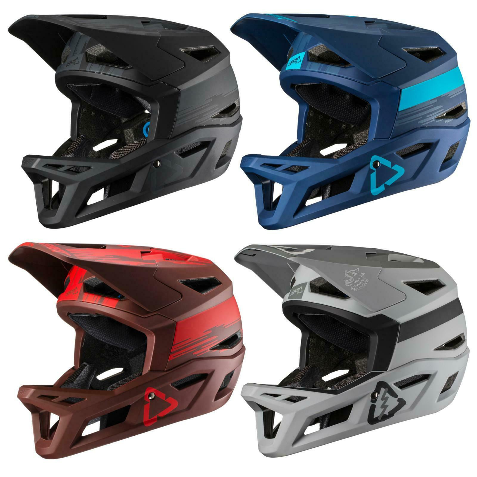 Leatt DBX 4.0 bicicleta casco downhill DH freeride FR MTB, el mountain bike Fidlock
