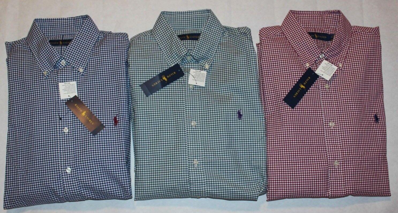 Polo Ralph Lauren Men's Oxford Button Down Long Sleeve Shirt Standard Fit M L XL