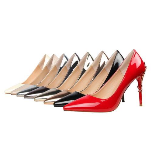 Toe Pompes Ladies Taille Pointu Hauts Shoes Stilettos Talons Synthétiques Party Nous S160 frwxqOYw87