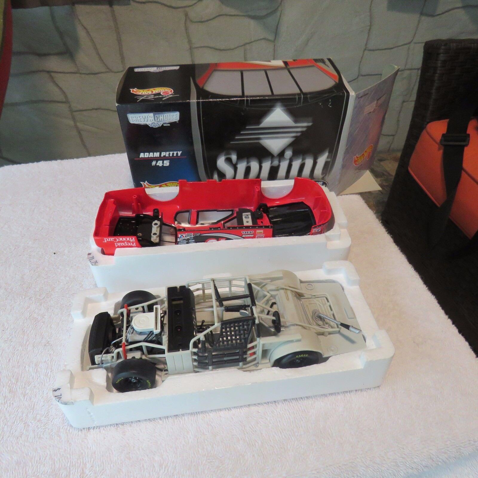 Adam Petty Sprint PCS 1 24 Scale Chevy Monte Carlo Hot Wheels Crew's Choice