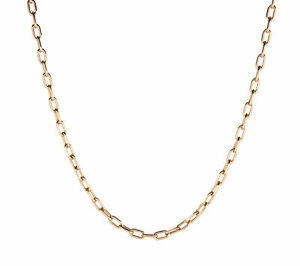 Cartier-Spartacus-18k-Rose-Gold-Link-Necklace-Estate-Designer-Jewelry-18-5-inch