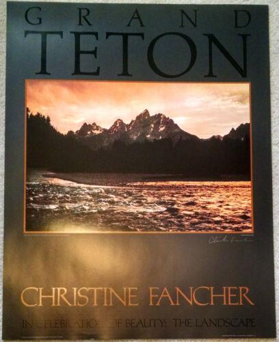Grand Teton National Park Poster by Christine Fancher Signed unframed
