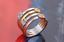 Nouveau Haute Qualité en Acier Inoxydable Fleur Coeur Ours Zircon Inlay Ring 6-9#