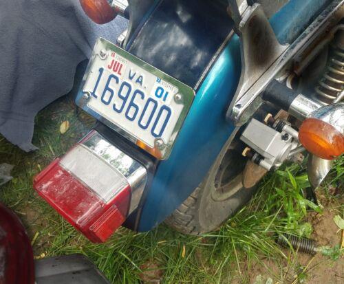 Kawasaki Vulcan VN 1500 VN 1600 VN 2000 88 Lay Down License Plate Kit Chrome