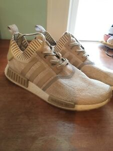 Details about ADIDAS NMD R1 PRIMEKNIT BOOST SHOES GOLD WHITE SIZE 12