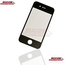 Für Apple iPhone 4 4G Display Glas Scheibe Glass LCD Window Frontglass schwarz