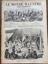 LE MONDE ILLUSTRE 1857 N 12 EN KABYLIE: SOUMISSION DE LA TRIBU DES BENI-RATEN