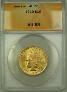 1910-Indian-Gold-Eagle-10-Coin-ANACS-AU-58