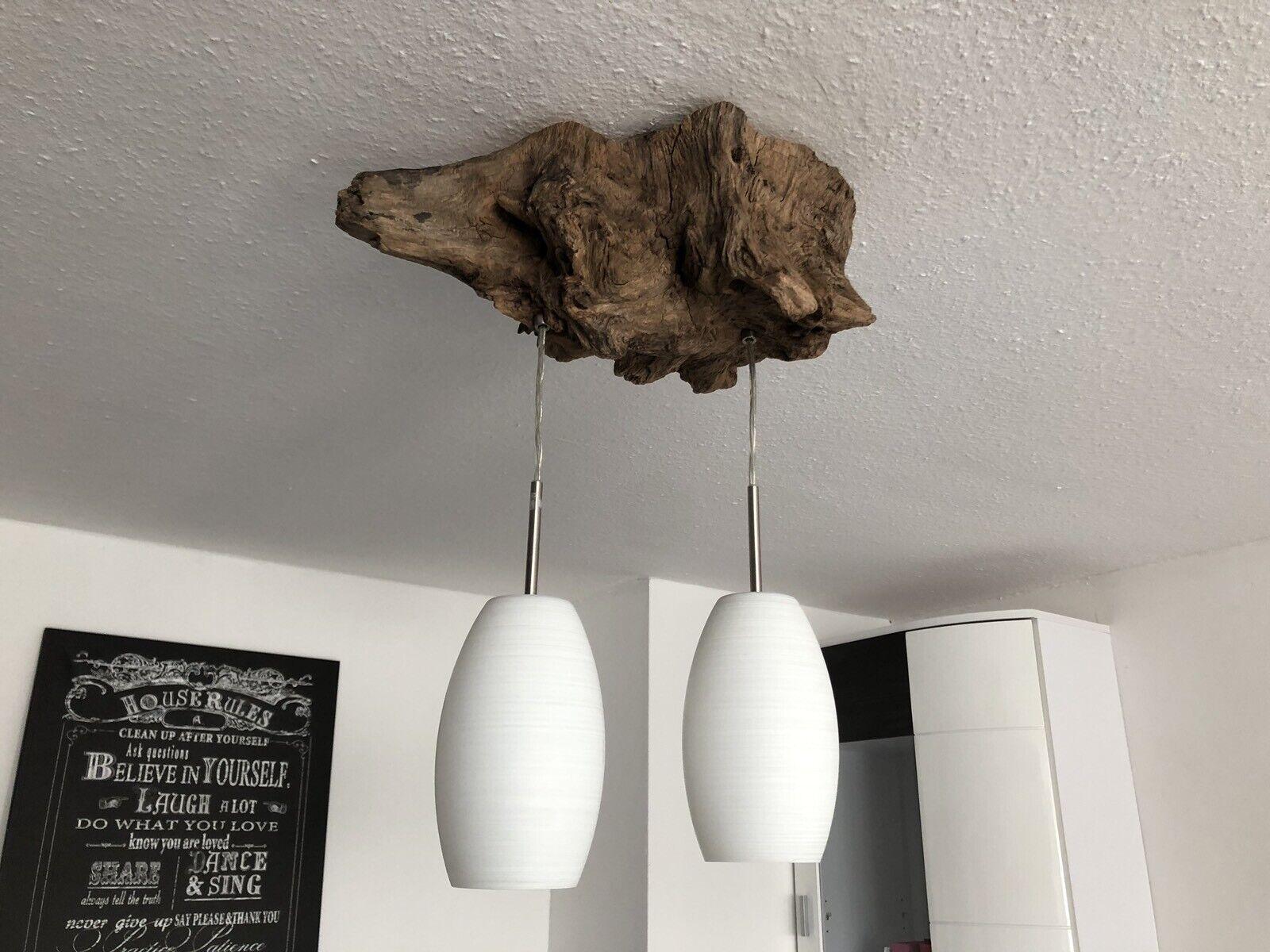 Rustikale Hängelampe Deckenlampe aus Wurzelholz - Schwemmholz    HANDGEFERTIGT