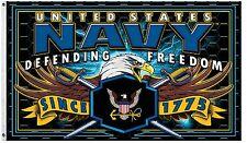 Strike Force 3X5' FLAG  Military US Navy Service Eagle Freedom New