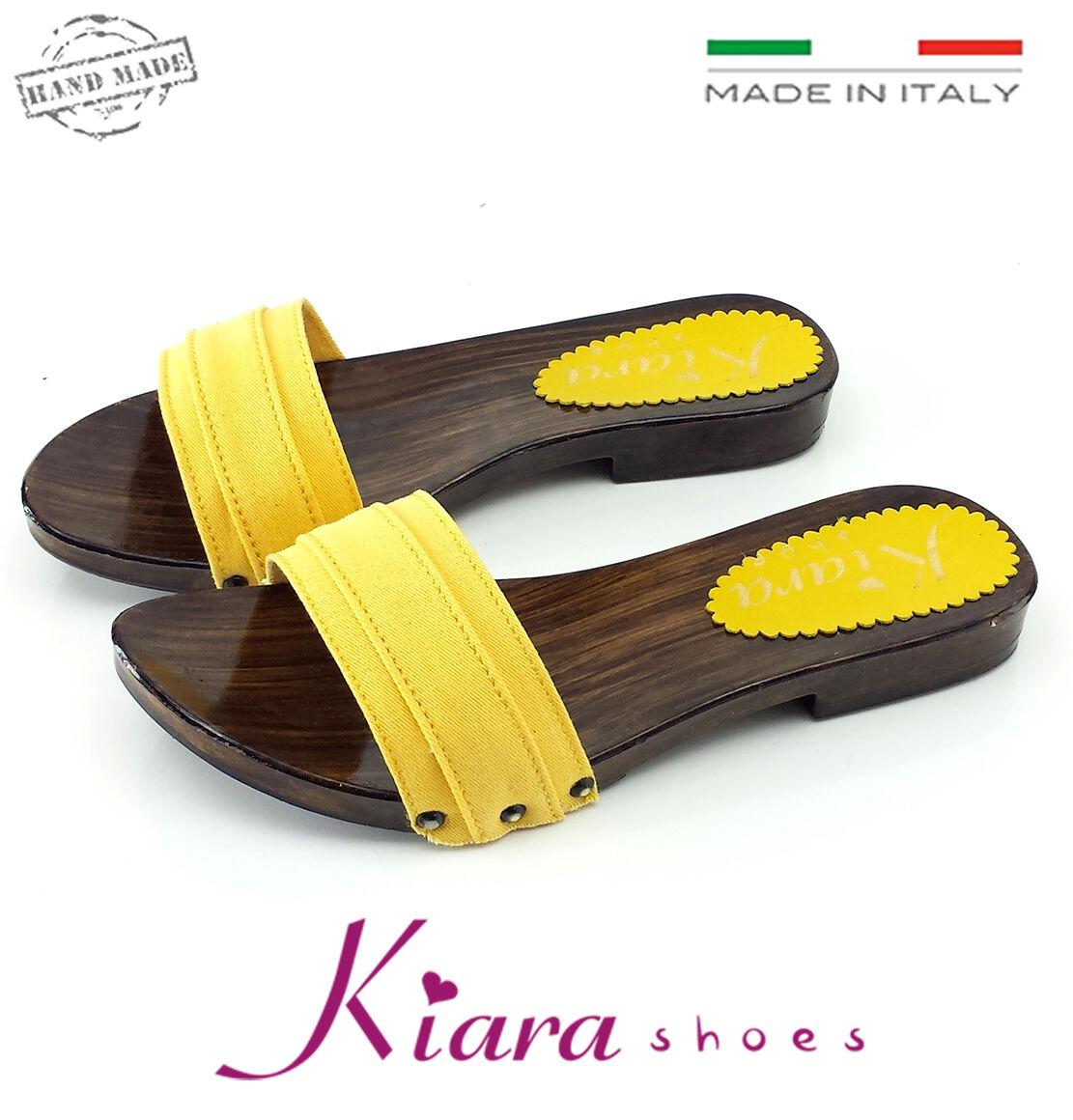 Sabots Basses Jaune- Chaussures Made in  35-36-37-38-39-40-41-42 Talon 2 cm