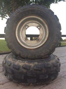 YAMAHA Front Tires Rims RAPTOR 660 700 350 Banshee Yfz450 250 blaster warrior
