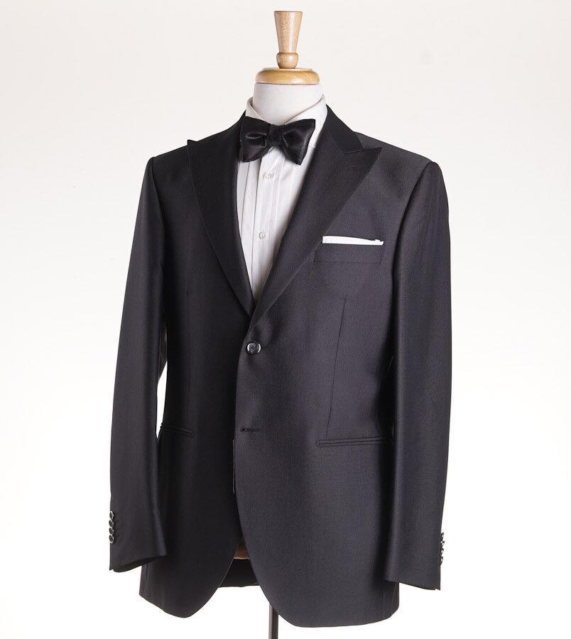 NWT 1375 LUBIAM (L.B.M. 1911) Dark grau Micro Pin Dot Tuxedo 42 R (Eu 52) Suit