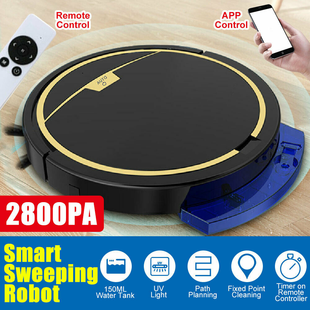3 IN 1 Smart Sweeping Robot Vacuum Cleaner Floor Auto Suction Sweeper Mopping