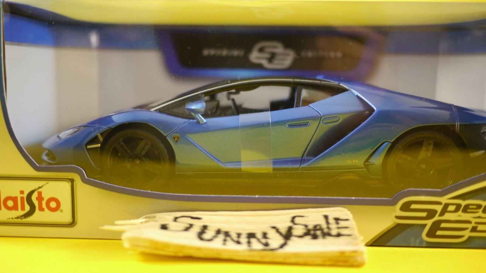 Maisto 1 18 Scale Special Edition Diecast Model - Lamborghini Centenario (bluee)