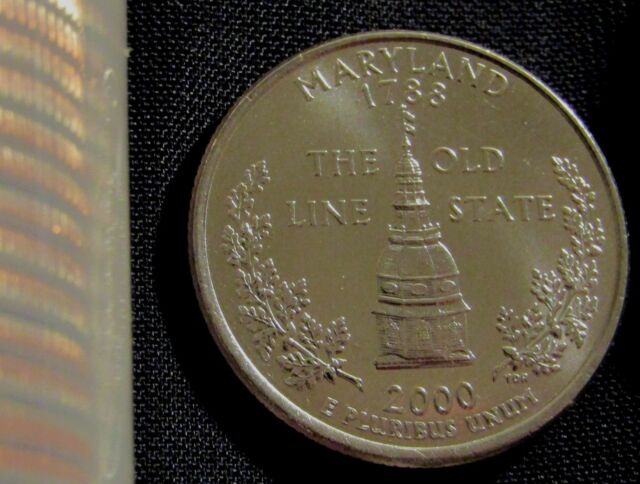2000  D MARYLAND STATE QUARTER UNCIRCULATED $25 SEALED MINI BAG