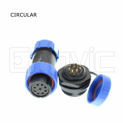 SP21 2-12 Pin Waterproof Aviation Circular Connector Female Plug Panel Socket