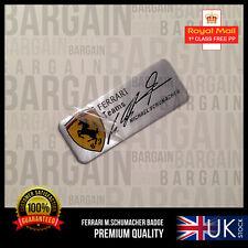 Michael Schumacher firmato SPECIAL EDITION FERRARI Spazzolato Emblema Badge F1 458
