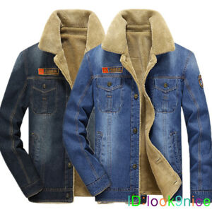 875f01500d Winter 2019 Men s Fashion velvet Denim Jacket Casual Lapel Jackets ...