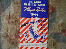 1944 CHICAGO WHITE SOX MEDIA GUIDE PLAYER ROSTER Yearbook Press Book Program AD