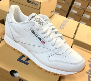 8623fd011ff Reebok Classic Leather 49797 White Gum Sole Mens Shoes Fashion ...
