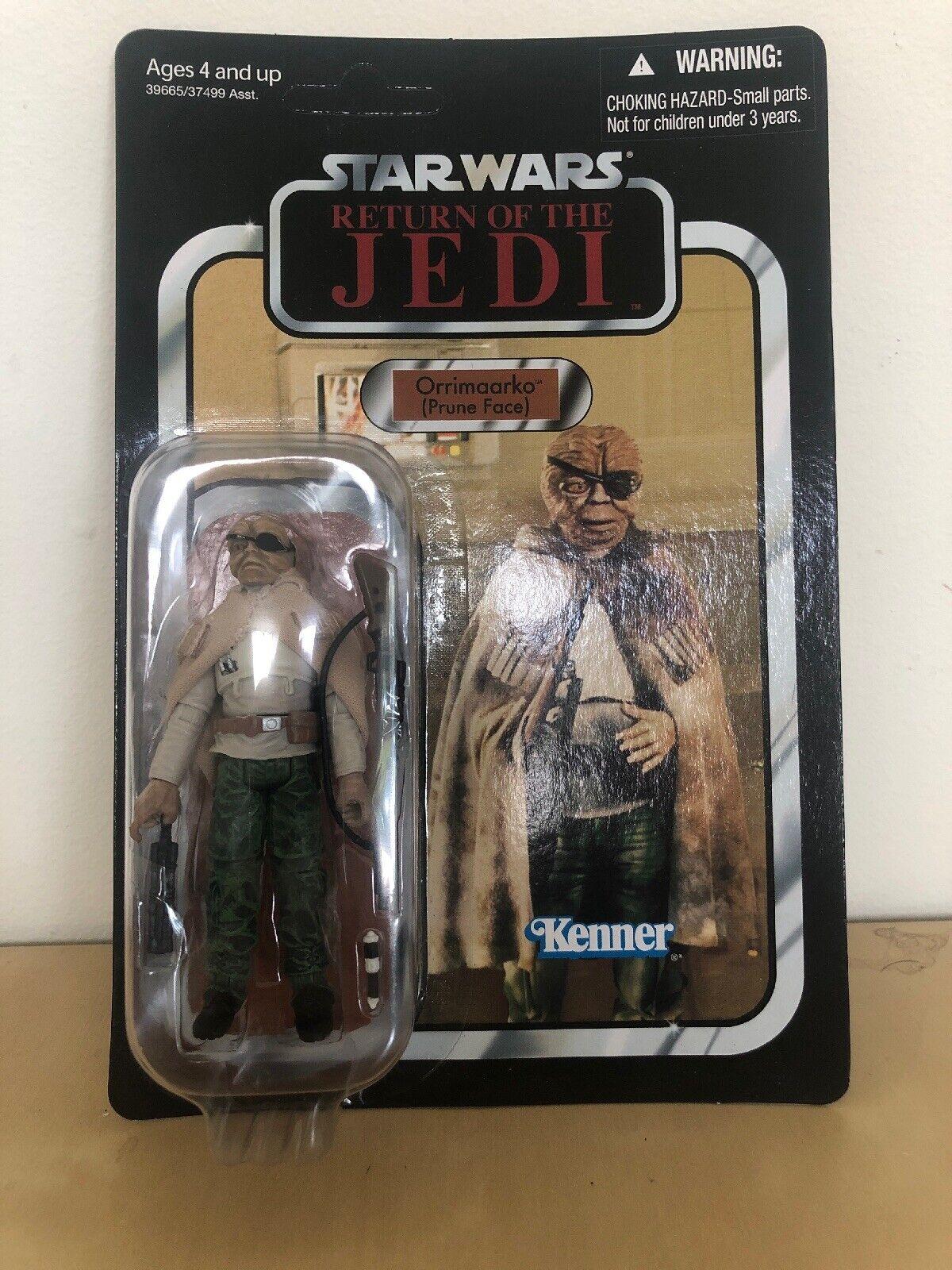 estrella guerras Return Of The Jedi Vintage collezione Orrimaardko pcorreree faccia