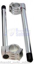 Semimanubri Ø50 alluminio anodizzato Silver SUZUKI GSX-R 600-750-1000-1100-1300