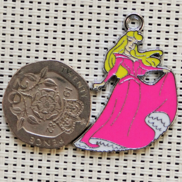 5, 10  Princess Charms Metal Pendants Enamel Jewellery Making