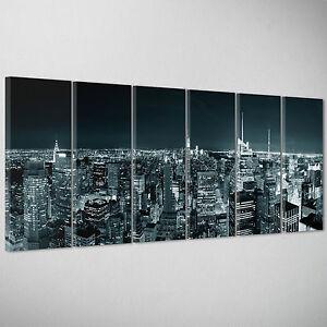 QUADRO-MODERNO-Citta-New-York-Skyline-America-Arredamento-casa-bar-200x70cm