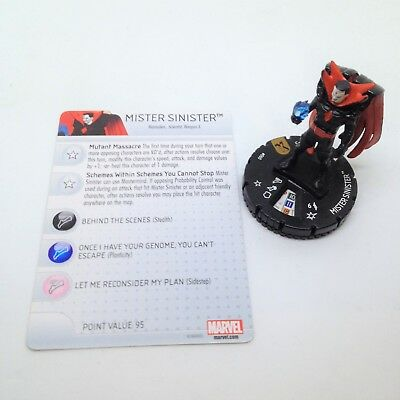 Heroclix Uncanny X-Men set Crimson Commando #048 Rare figure w//card!