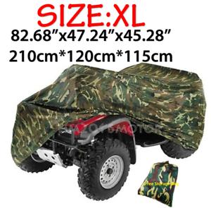 XL ATV Camo Cover Storage Universal For Honda Kawasaki Suzuki Yamaha Polaris