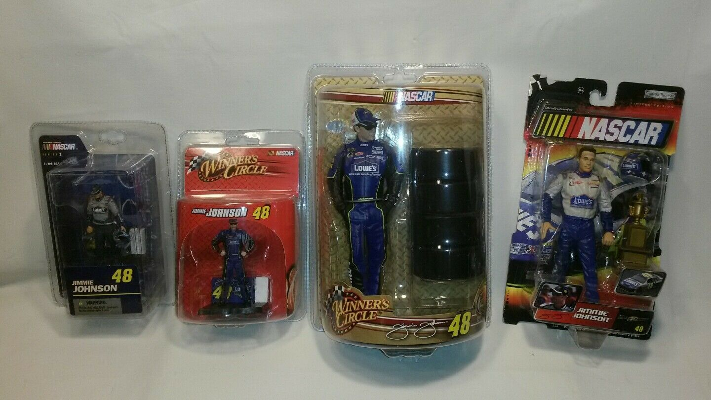 NEW LOT OF JIMMIE JOHNSON FIGURES MCFARLANE  WINNERS CIRCLE  JAKKS F S