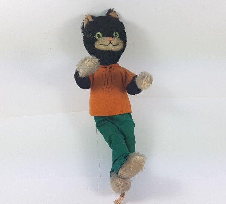 Cat   Plush Animal Animal, Schuco Bigo – Bello, um 1965 AL381