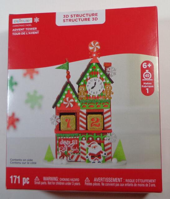 advent calendar christmas countdown clock tower 3d foam kit creatology
