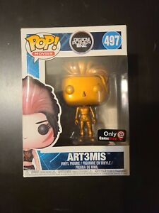 NEW Funko POP! Movies Copper Ready Player One ART3MIS Figure #497 WITH Protector