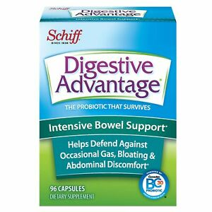 Intensive Bowel Support Probiotic Supplement - Digestive Advantage 96 Capsule...